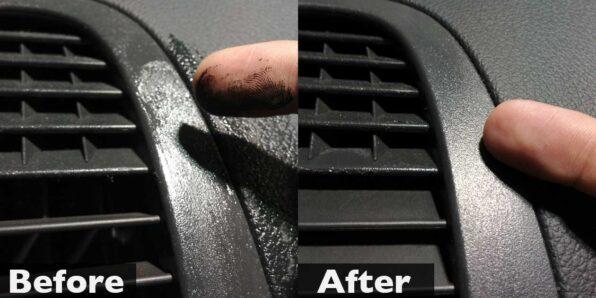 車内の樹脂部分のネチネチ除去
