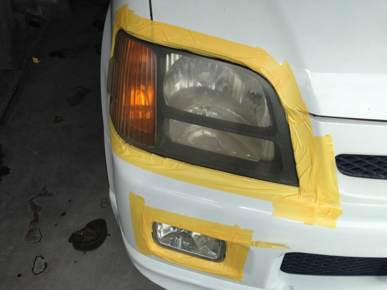 ヘッドライト磨き 通常プラン 施工前