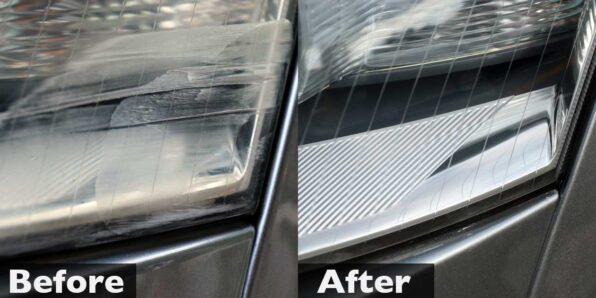 アウディA6のヘッドライトを復元