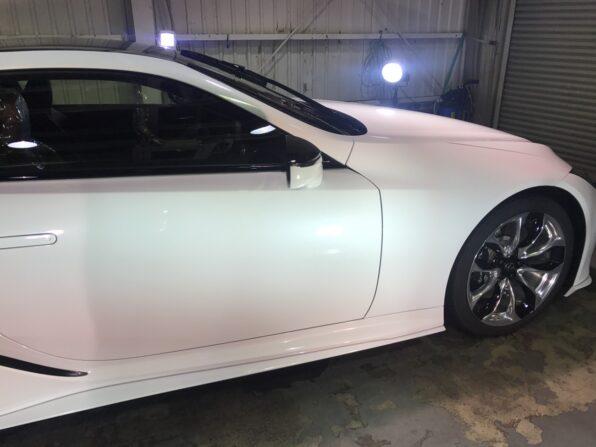 ウルトラストロングコートPremium360 施工後の Lexus LC500 横から