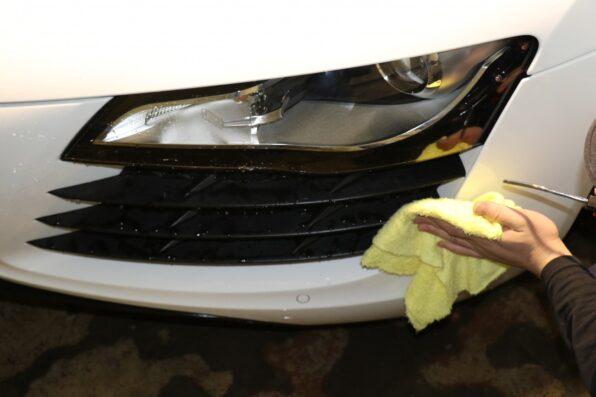 洗車後の水切り