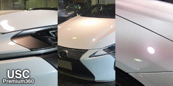 新車の Lexus LC500 にウルトラストロングコートPremium360 を施工