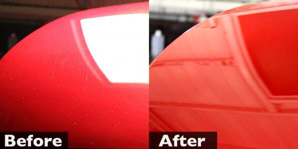 アテンザにガラスコーティング「ウルトラストロングコート」施工前・施工後 比較写真