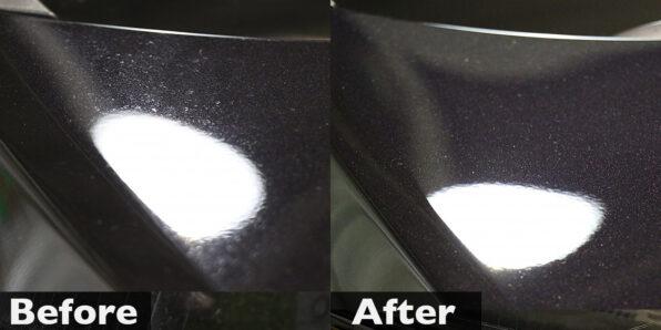 水シミの除去とクリスタルキーパー 施工前後比較写真 (ハリアー)