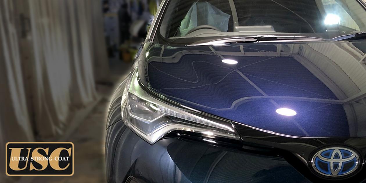 新車のCH-RにUSCガラスコーティング